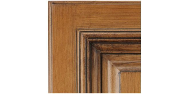 Madison Ginger Glaze, This raised panel cabinet features fully glazed solid maple doors with ginger stained finish. This is not a ready to assemble style. These cabinets are built traditionally with nail/staple gun & hot glue & shipped ready for you to install.