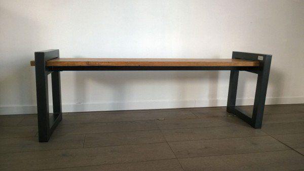 best 25 industrial bench ideas on pinterest diy industrial bench industrial furniture and. Black Bedroom Furniture Sets. Home Design Ideas