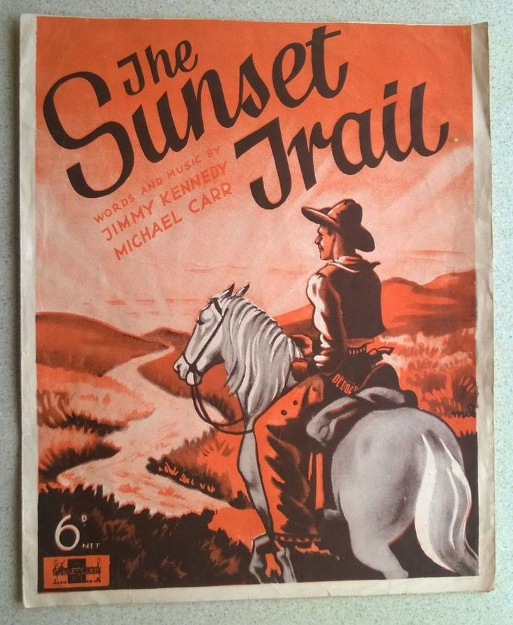 The Sunset Trail Sheet Music for Ukulele, Voice, Piano & Accordion 1936