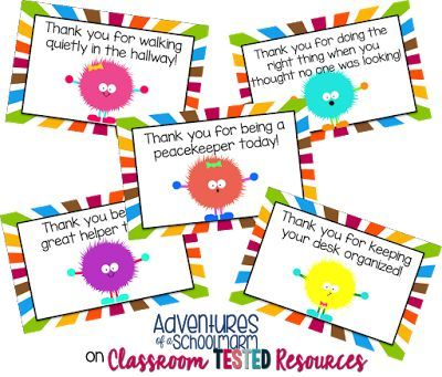 Classroom Tested Resources: Strategies for a Positive Classroom {FREEBIE} Compliment Cards! CLICK to read more or grab them here: https://www.teacherspayteachers.com/Product/Compliment-Cards-Warm-Fuzzies-Positive-Behavior-Rewards-1597521