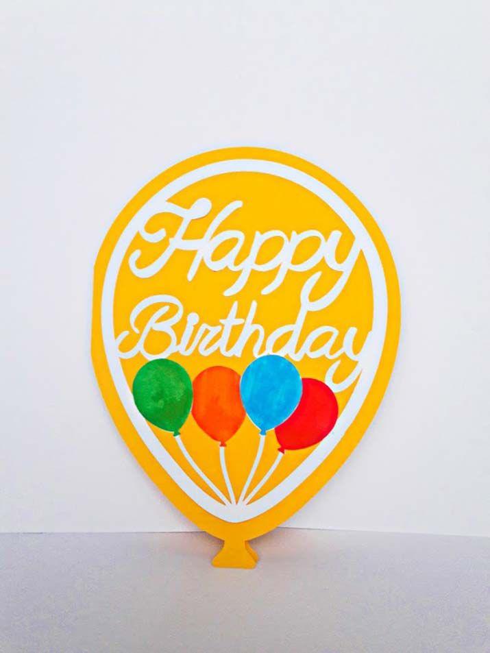 biglietti auguri compleanno fatti a mano bambino palloncini