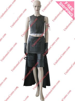 Final Fantasy VII Tifa Lockhart Leather Cosplay Costume. Package includes:Top, Shorts, Skirt With Pockets, Gloves, Arm Piece.