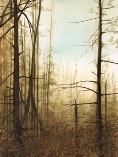 one of my paintings-  'Beaver Lodge Forest'  (where I walk my dog everyday.)