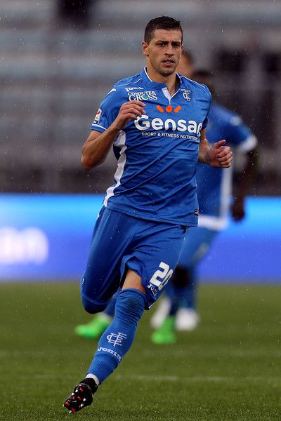 Manuel Pucciarelli of Empoli FC in action during the Serie A match between Empoli FC and Bologna FC at Stadio Carlo Castellani on May 7, 2017 in Empoli, Italy.