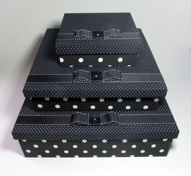 Trio de Caixas Organizadoras - LOLA  http://www.lolitalacoefita.com.br/
