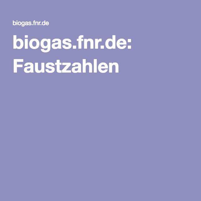 biogas.fnr.de: Faustzahlen