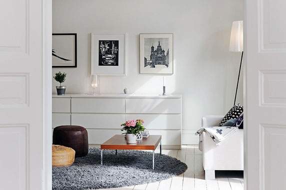 Malm sideboard living room pinterest nice home and deco for Deco woonkamer moderne woonkamer