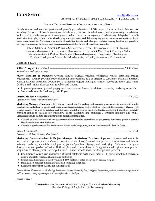 Click Here to Download this Project Manager Resume Template! http://www.resumetemplates101.com/Retail%20-resume-templates/Template-225/
