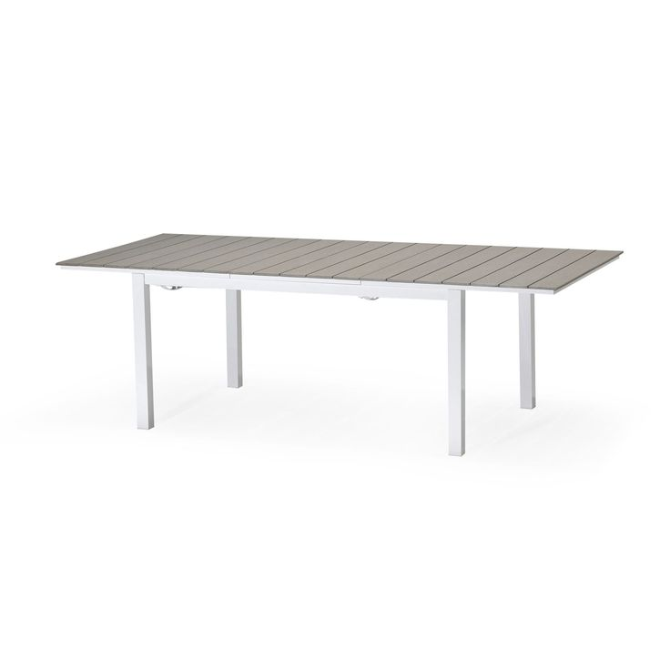 Table de jardin extensible grise gris sable salerno for Jardin decor 37