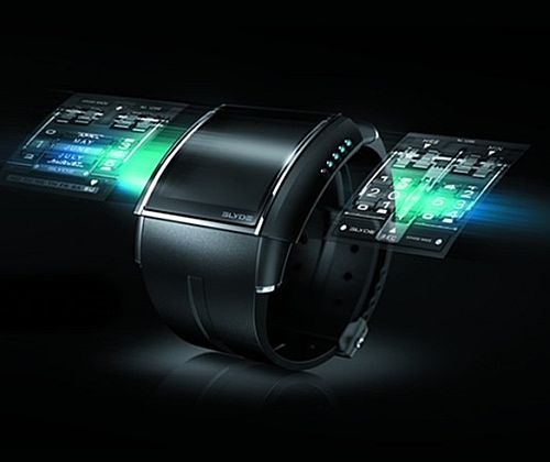 A holoband, biologically bonded to the wearer. All personal information is stored in its data banks, including ID, bank accounts, and anything else that we now store on our computers and cell phones.