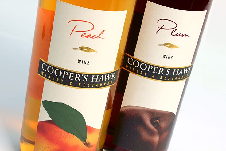Cooper's Hawk Winery & Restaurants | Peach and Plum Fruit Wine Labels | by designthis!