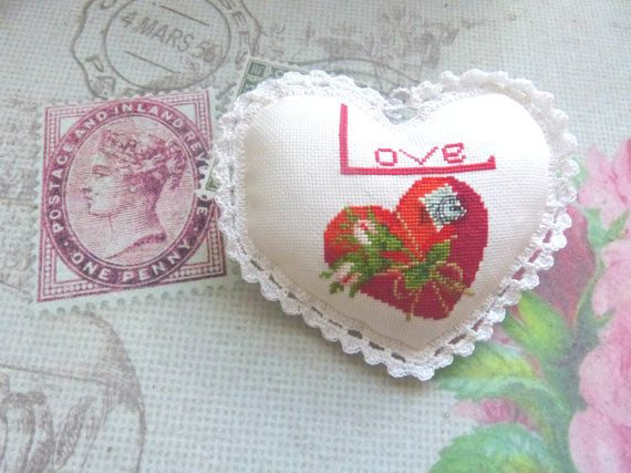Sweet heart LOVE by CrossStitchElizabeth on Etsy