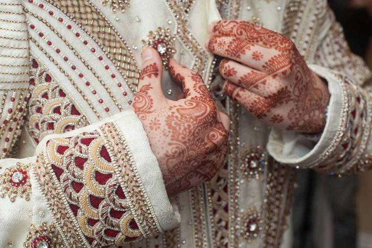 Traditional Indian LGBTQ interracial wedding - elias-neil-wedding-jacket