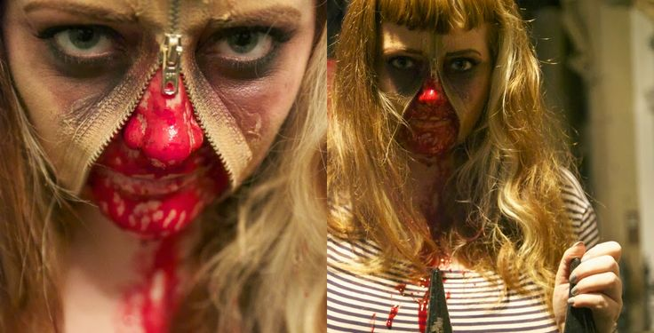 Ever So Juliet | UK Lifestyle, Beauty & Baking blog: Halloween how to: scary zip face