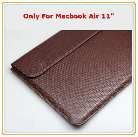 "Special Design Leather Sleeve Case For Macbook Air 11.6"",Air Retina 13.3"",High Quantity Brand Chinao.Wholesale, Free Drop Ship"