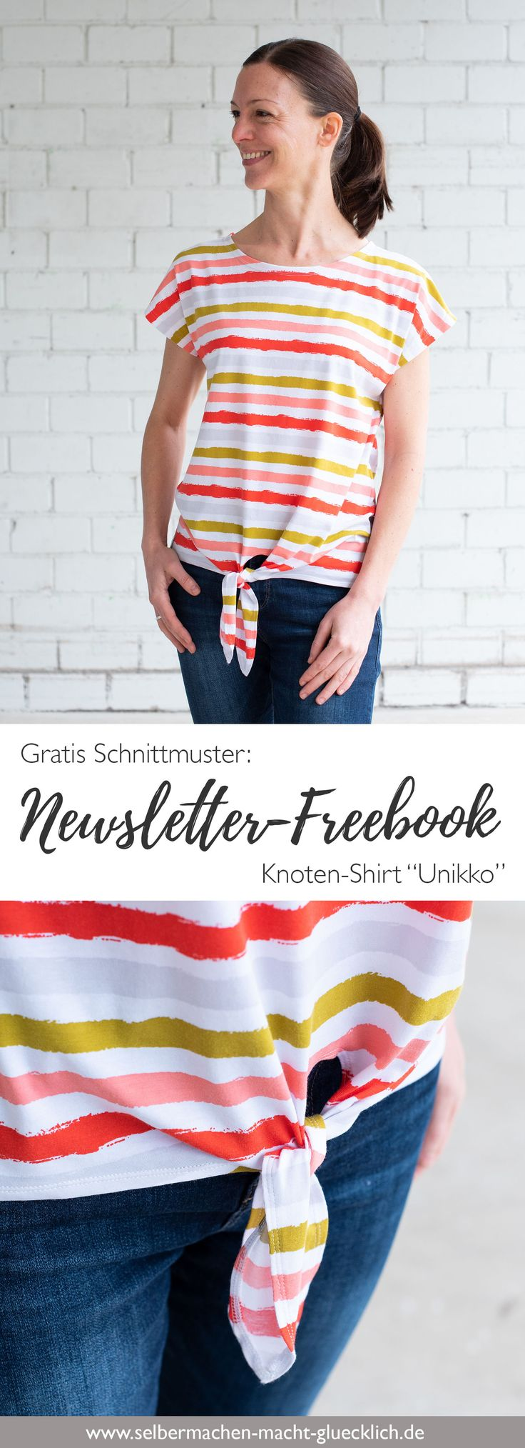 Gratis Schnittmuster: Exklusives Newsletter-Freebook Shirt Unikko von lillestoff… – fashiontamtam – Nähen, Schnittmuster, Nähtipps und Upcycling