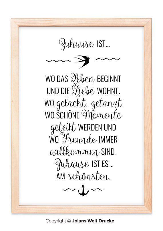 Familie Zuhause Anker Von Jolanswelt Kunstdrucke Familie Spruch Zitat Schriftzug Weihnahten Zusammenhalt Lustig Lieb Lettering Quotations Prints