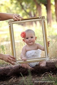 Baby Photo Idea with Picture Frame