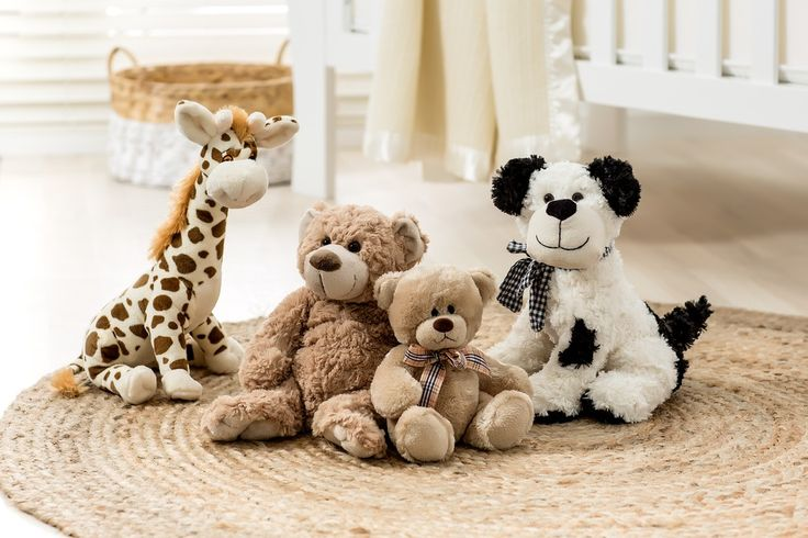 Get them a cute little cuddly soft toy to keep them company day or night.
