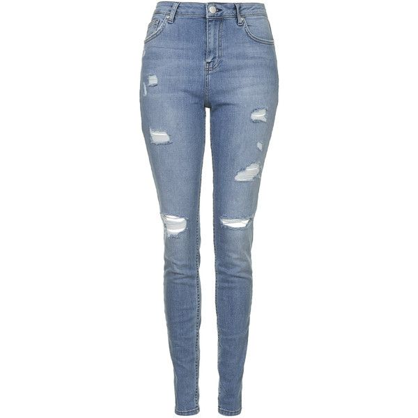 TOPSHOP TALL MOTO Bleach Authentic Ripped Skinny Jeans ($85) ❤ liked on Polyvore featuring jeans, pants, bottoms, calças, bleach, destroyed denim skinny jeans, ripped skinny jeans, destructed skinny jeans, torn jeans и distressed jeans