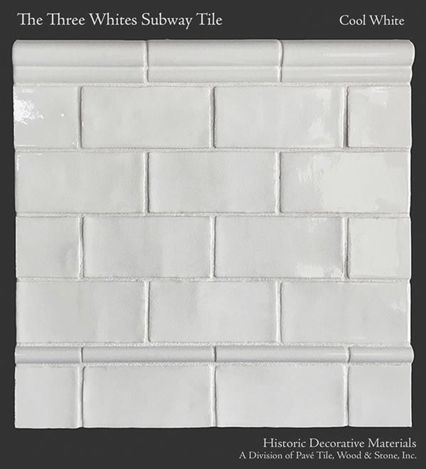 The Three Whites Glazed Ceramic 3″ x 6″ Subway Tile Collection in Cool White