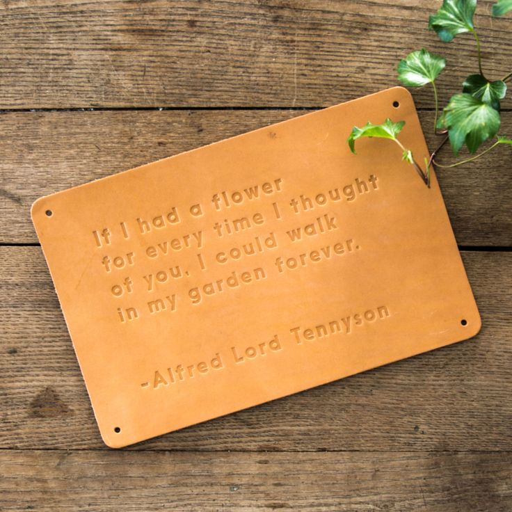 """""""If I had a flower"""" Leather Sign"""