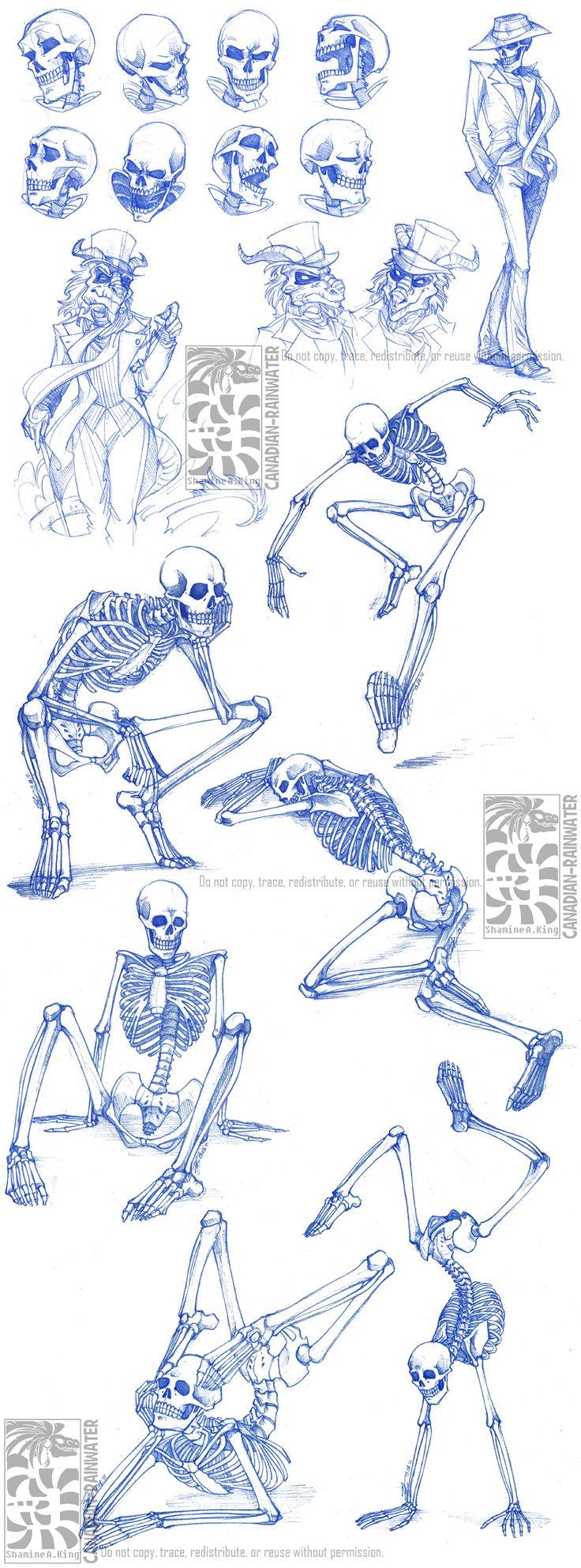 Skeletal Sketchdump by Quarter-Virus.deviantart.com on @DeviantArt