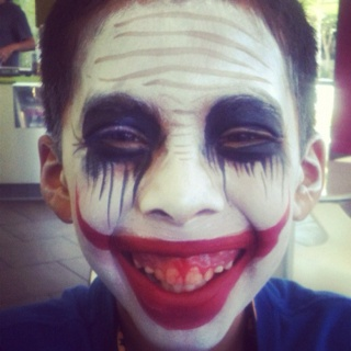 Joker face paint ... Joker schmink