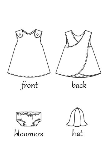 Baby Wrap around Dress | Blossoms  Bloomers | Favorite Things Pattern Designs