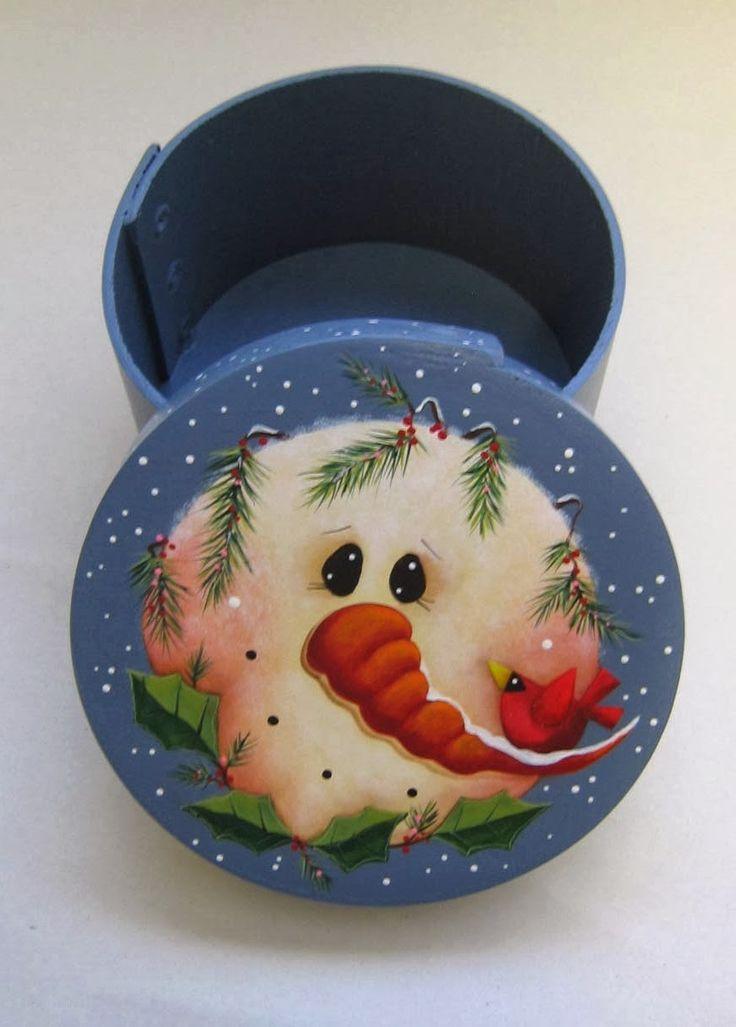Barb's Heartstrokes: A Snowman!
