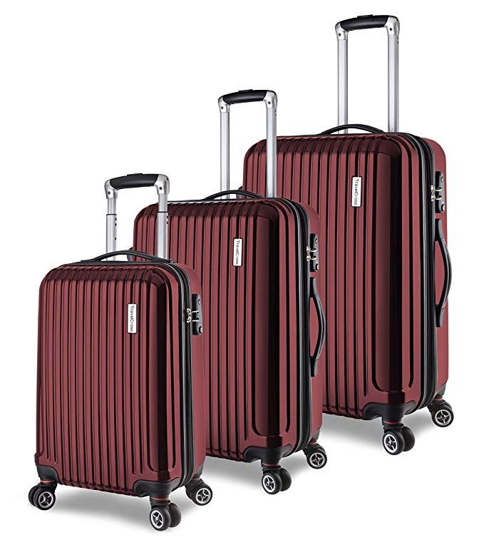 Orange, 20+28 TravelCross Berkeley Classic Luggage Lightweight Spinner Set