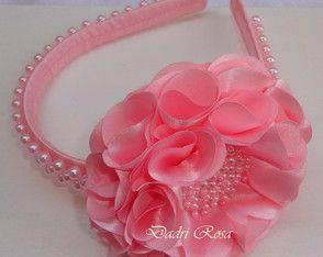 Tiara de luxo Rosa