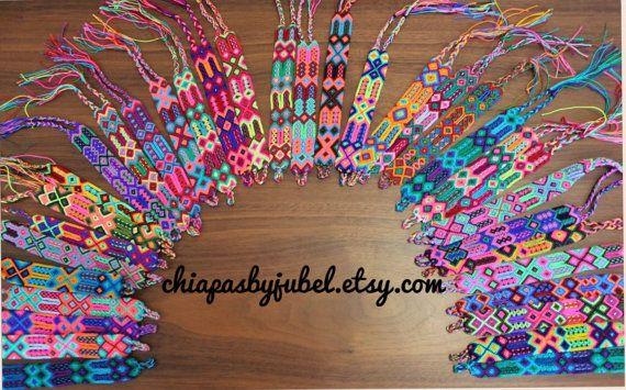 Hand woven bracelet of 24 threads / Friendship bracelet / boho folk hippie bracelet / mexican bracelets / knotted handmade bracelet