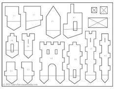 gingerbread house template printable - Cerca con Google