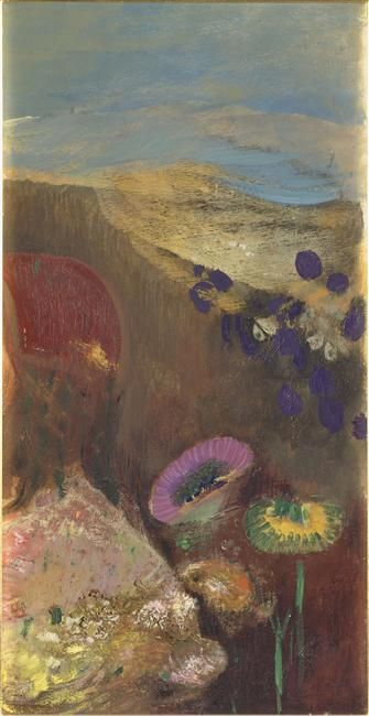 Odilon Redon - Fleurs étranges, 1910