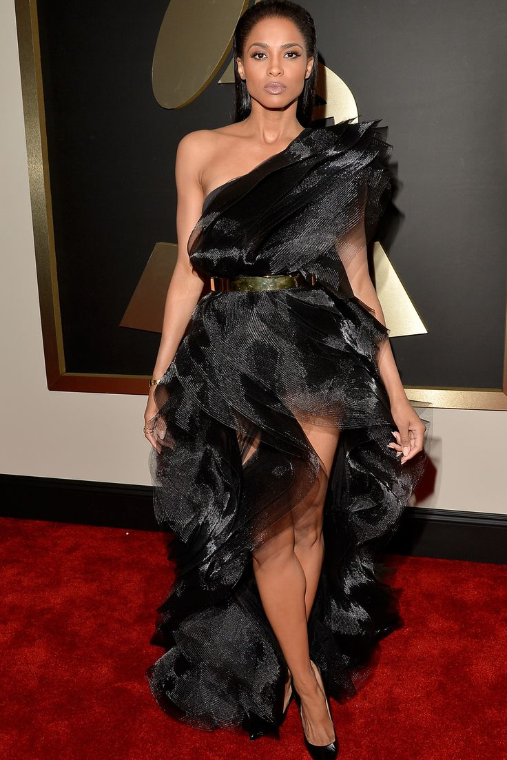 Ciara, in Alexandre Vauthier Haute Couture. The 2015 Grammy Awards - Gallery - Style.com