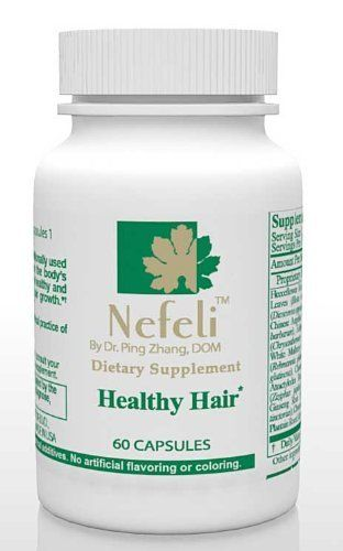 Nefeli Healthy Hair by Nefeli. $38.00. This special designed hair formula follows Traditional Chinese Medicine healing principles to tap the root cause of hair loss by simultaneously replenishing the vital nutrients needed for hair growth, promoting qi (energy) and blood flow to the scalp area, and clearing toxic build on the scalp.. All Natural. No Preservatives. FDA Registered.. ? Designed with most trusted Chinese hair health promoting herbs by ancient sages - He ...