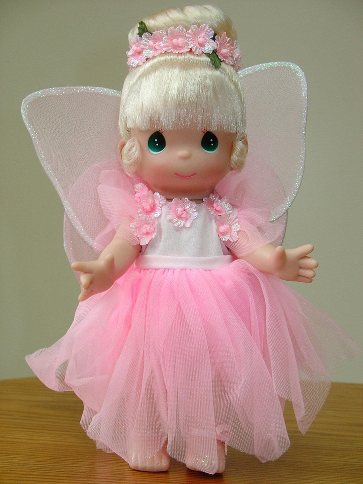 "*Holli*~ Pink ""Tinkerbell Garden Party"" Precious Moments Doll"