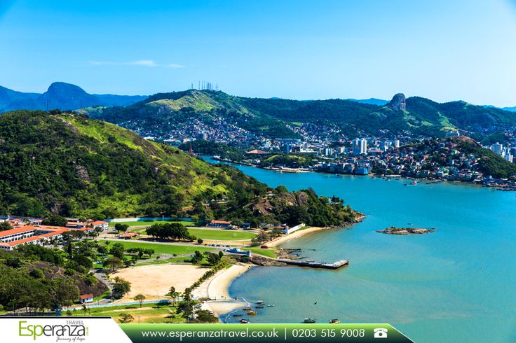 Vitoria, Espírito Santo City in Brazil  |    Sitting on an island, serving as the capital for one of the Brazilian states is Vitoria. Vitoria is famous for the gorgeous unspoilt beaches and pulsating culture.  |    Book now: http://www.esperanzatravel.co.uk/flights-to-vitoria.php?utm_source=pinterest&utm_campaign=vitoria-espirito-santo-city-in-brazil&utm_medium=social&utm_term=vitoria  |    #SouthAmerica #Brazil #EspíritoSanto #Vitoria #VisitVitoria #EsperanzaTravel #JourneyofHope