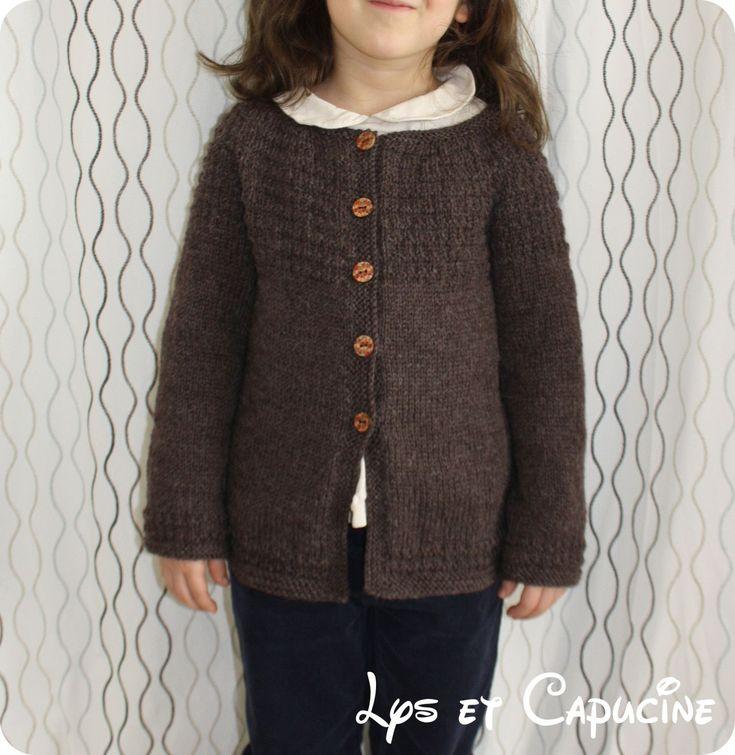 modele tricot gilet 10 ans