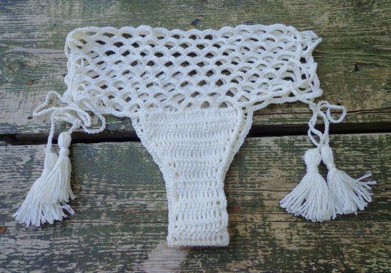 Fishnet Crochet BottomBrazilian Bottom. by byrosali on Etsy