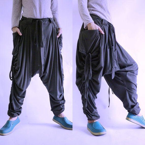 Plus size Women Men Pants Boho Funky Hippie by BeyondCloset