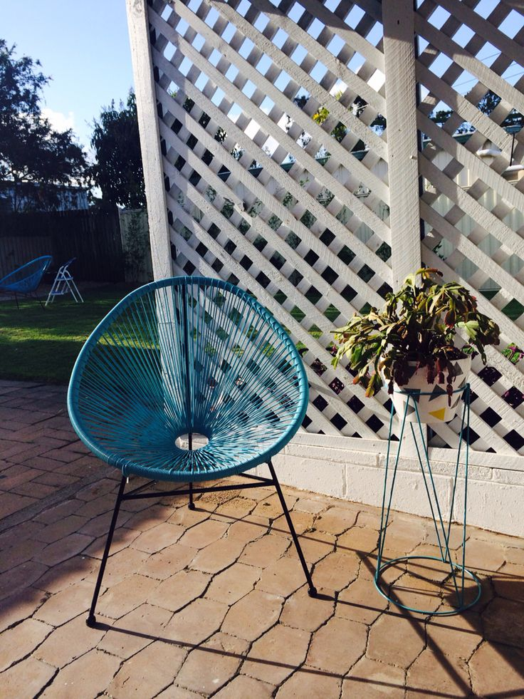 K-Mart Acapulco chair and plant stand