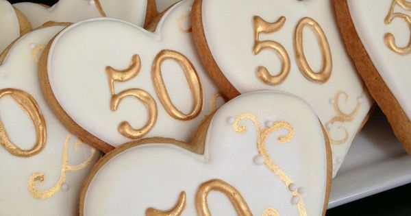 50th Anniversary Cookies. Hope to do these for my parents some day. | 50 th Anniversary  Cookies | Pinterest | 50th Anniversary, 50th Anniversary Cookies and A…