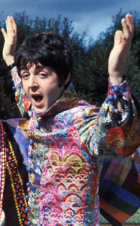 Macca in psychedelic attire :)