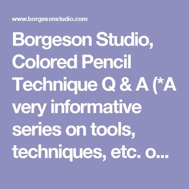 Colours Spec Q A Etc Etc: 1000+ Ideas About Color Pencil Techniques On Pinterest