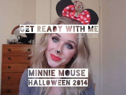 HALLOWEEN GRWM | minnie mouse | mejvlogs - YouTube  get ready with me! DIY hair, makeup and costume for Minnie Mouse, Halloween 2014 :)   beauty video, grwm, beauty, makeup, tutorial