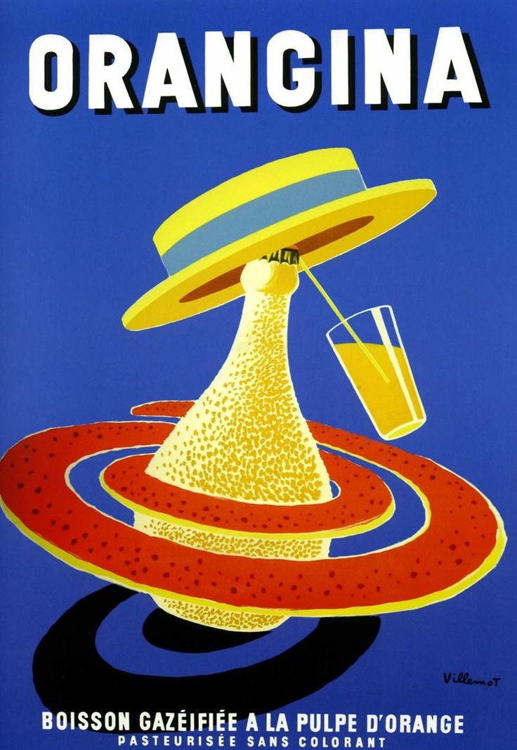 Villemot 1956 Orangina | Vintage poster |