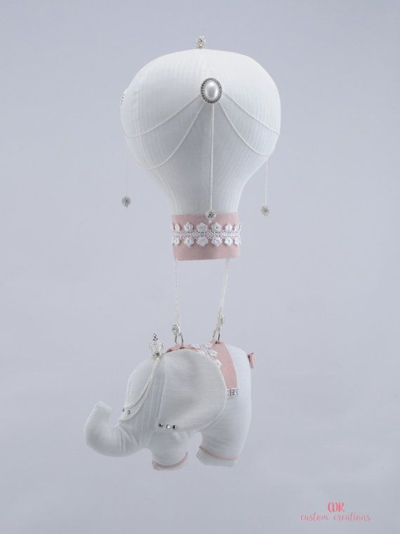 Royal Elephant and Hot Air Balloon Mobile