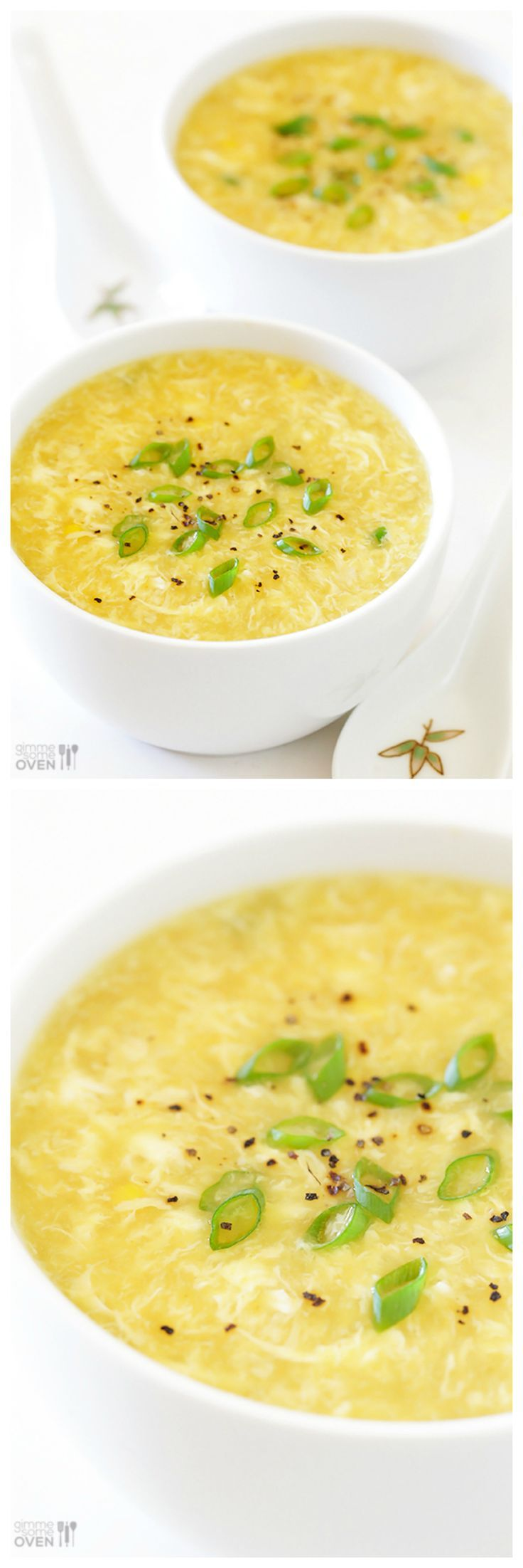 Egg Drop Soup -- super easy to make, and it tastes even better than the restaurant version! | gimmesomeoven.com #soup #recipe